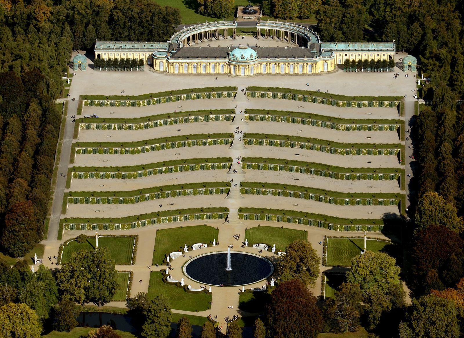 Bundesland / Sanssouci von oben