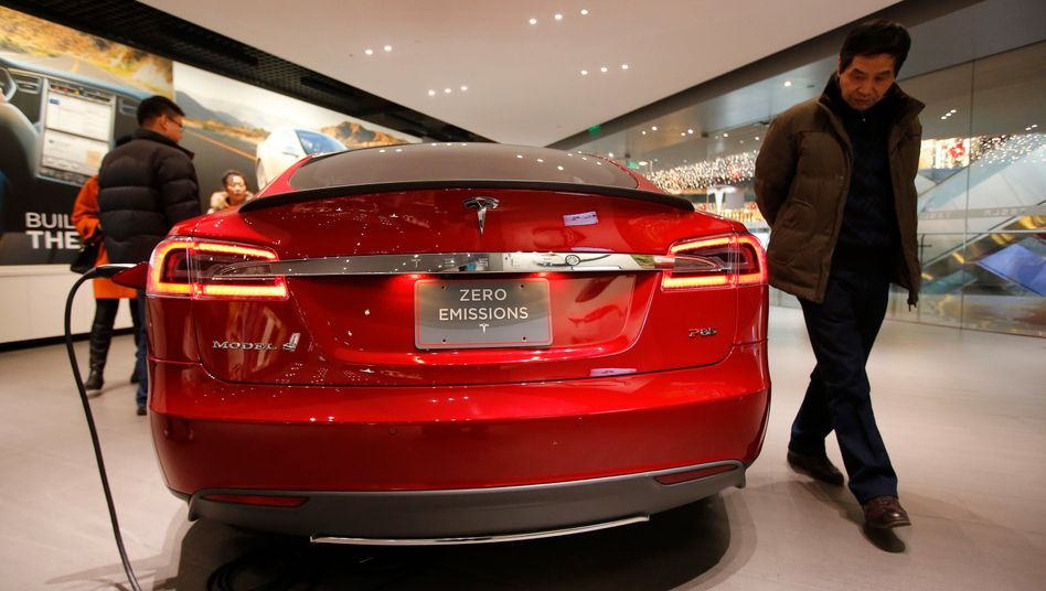 Tesla-Geschäft in Peking
