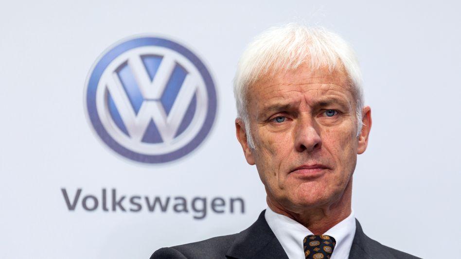Muss künftig mit dem Deckel leben: Volkswagen-Chef Matthias Müller