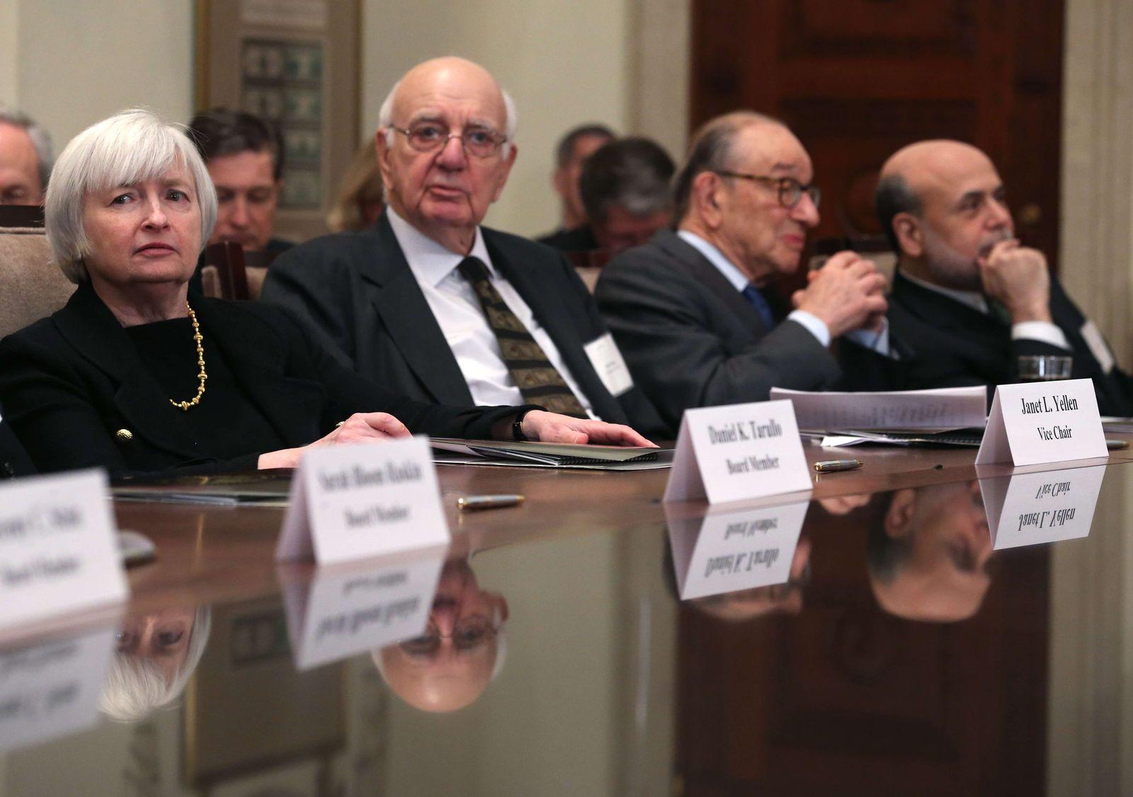 Fed Yellen Volcker Greenspan Bernanke