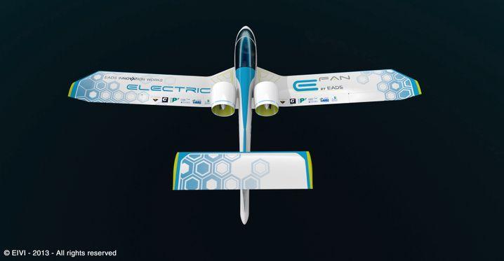 Kein Papierflieger: Der E-Fan von Airbus hat seinen Jungfernflug bereits hinter sich