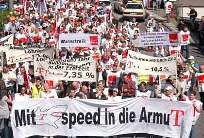 Warnstreik: Der Telekom droht ein Arbeitskampf