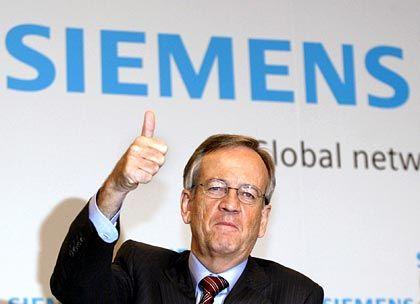 Vermutlich frei von privaten Geldsorgen: Siemens-Chef Heinrich von Pierer