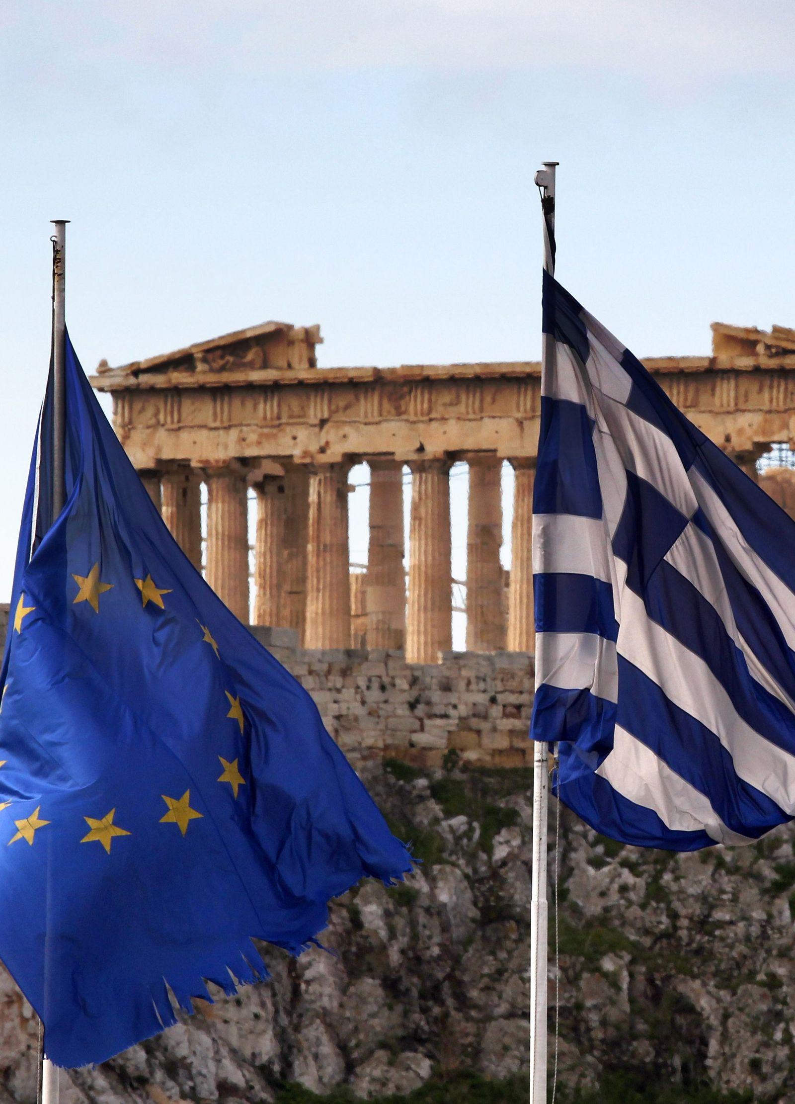 SYMBOL Griechenland / EU / Flagge