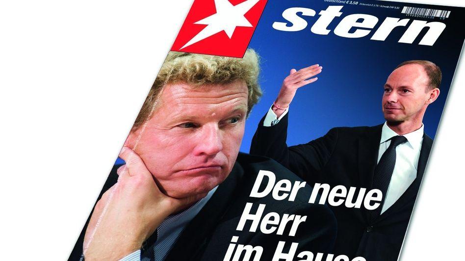 Beziehungskrise: Thomas Rabe (r.) will Durchgriff, Gruner-Mann Bernd Buchholz wird an die Leine gelegt