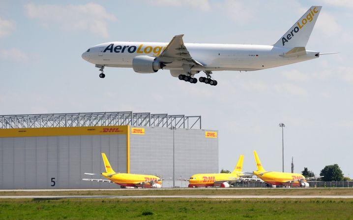 DHL-Hub am Flughafen Leipzig/Halle in Schkeuditz