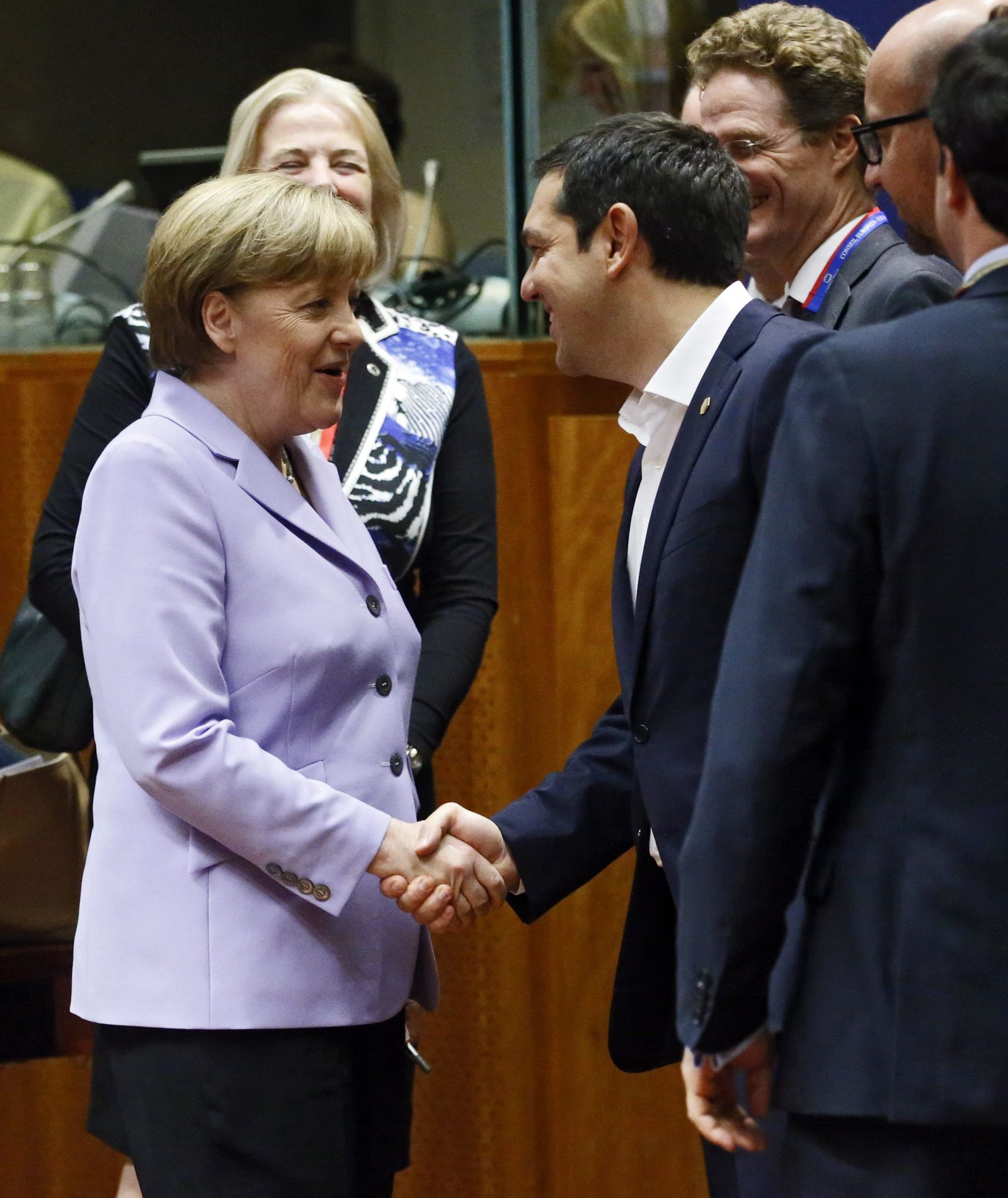 European Heads of States and Governments Summit Merkel Tsipras
