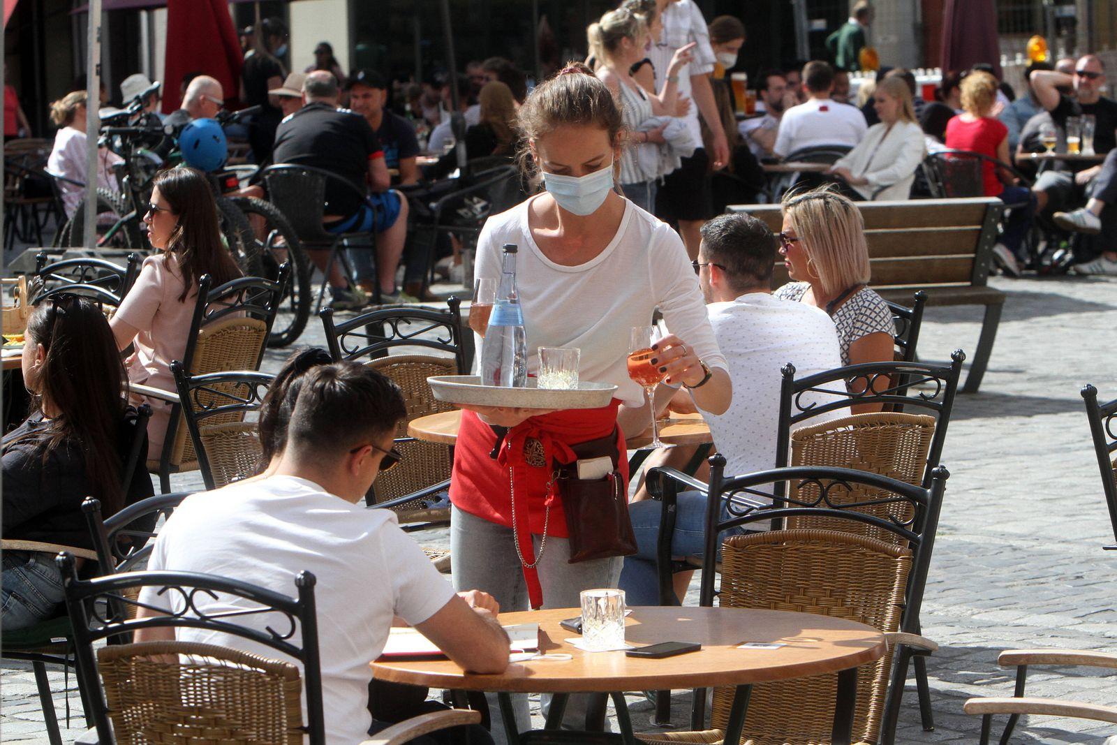 Aufgrund anhaltend niedriger Inzidenzen in Heidelberg durften gastronomische Betriebe ihren Außenbereich wieder öffnen,