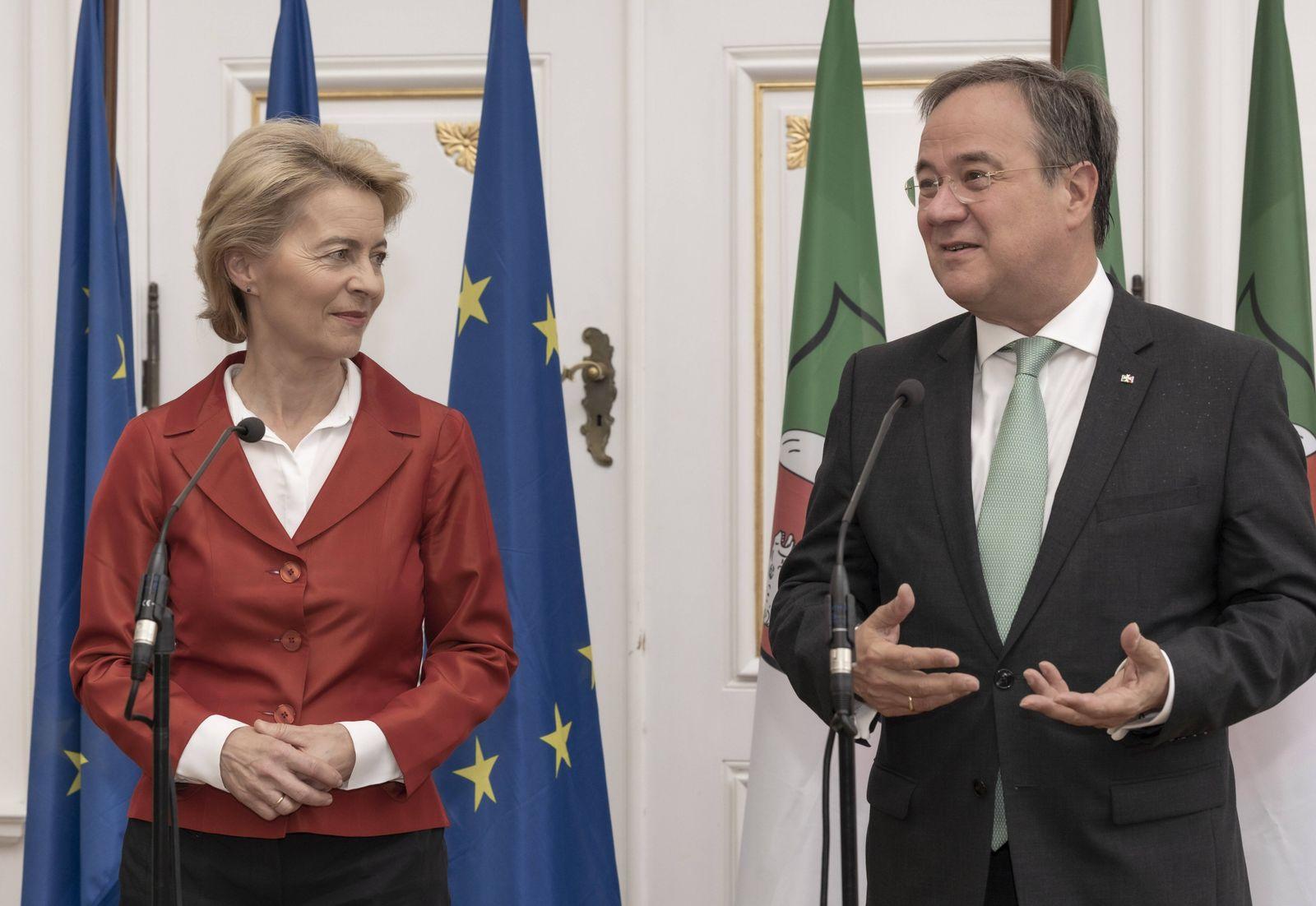 Empfang und Ansprache von Frau Dr Ursula von der Leyen Präsidentin der Europäischen Kommission und