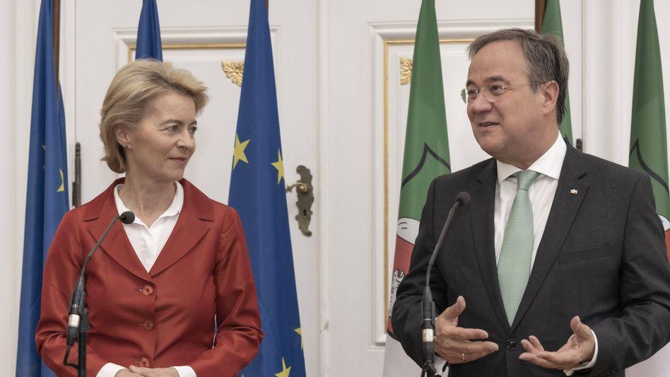 Europa hat Besseres verdient als eine ambitionslose Politik: Kommissionschefin Ursula von der Leyen und Unions-Kanzlerkandidat Armin Laschet