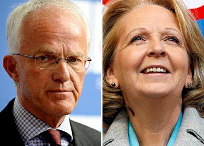 Zwei Gewinner, zwei Verlierer: Noch ist unklar, wer in NRW auf de Regierungsbank sitzen wird