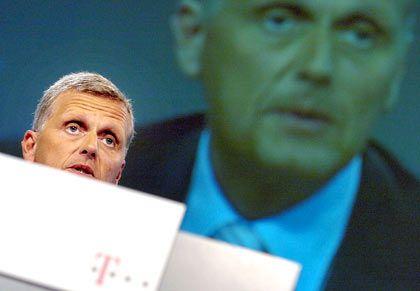 Rückzug: Auch T-Venture, hier Telekom-Chef Ricke, trennte sich von 15 Beteiligungen.