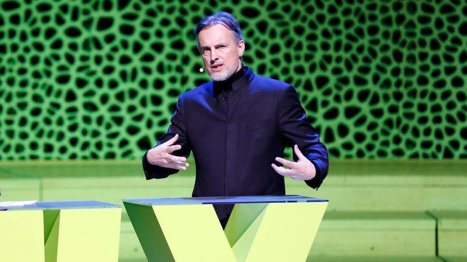 KI-Experte Jürgen Schmidhuber im Februar auf der New Work Experience des Karrierenetzwerks Xing in Hamburg