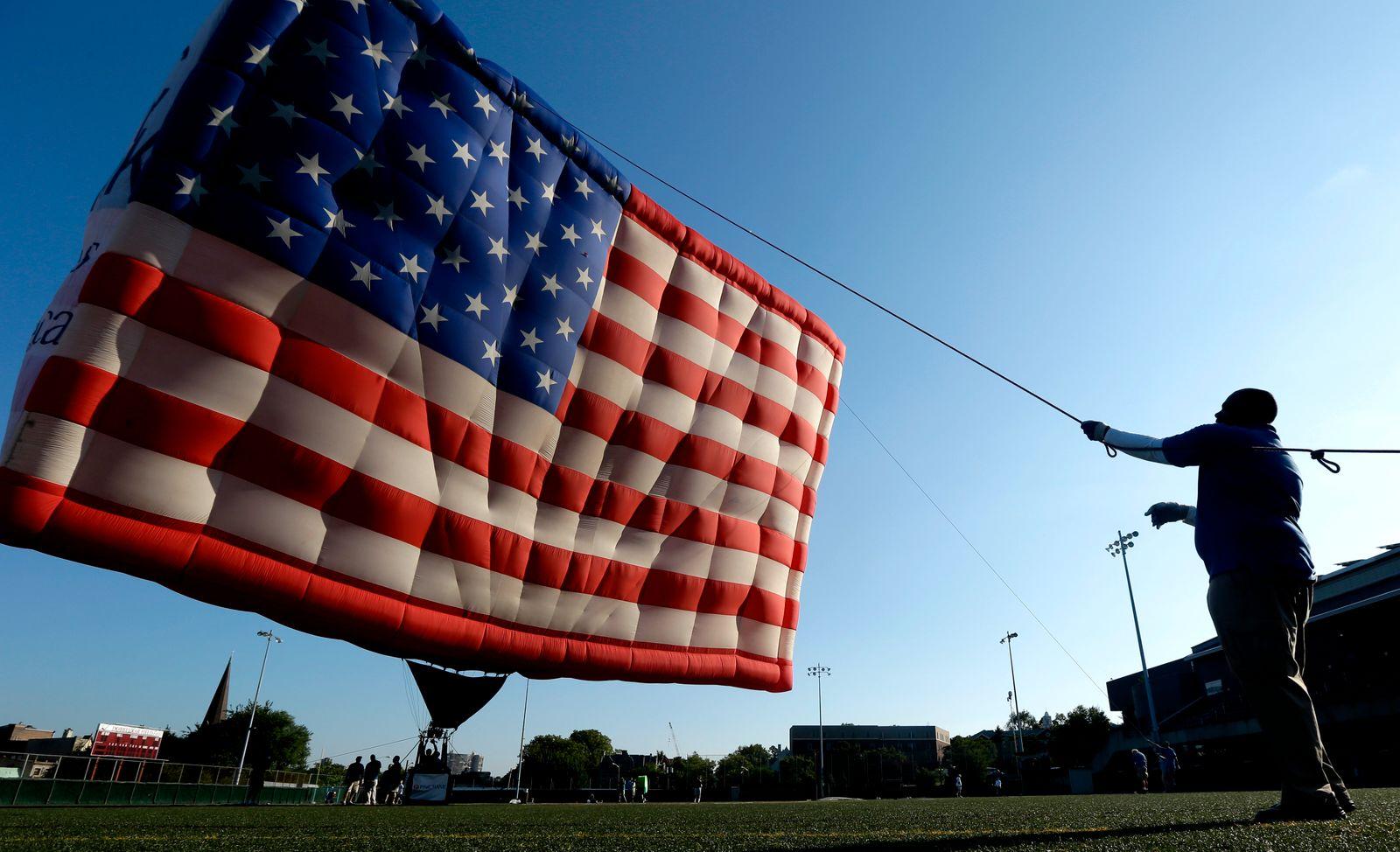 US Flagge / Heißluftballon