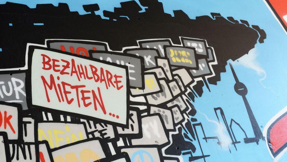 Graffiti in Berlin Kreuzberg: Mietpreisanstieg von 36,5 Prozent in den vergangenen fünf Jahren
