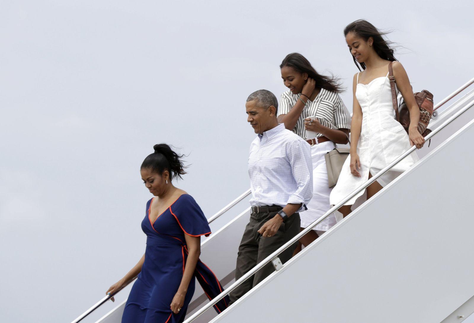 Barack Obama mit Familie
