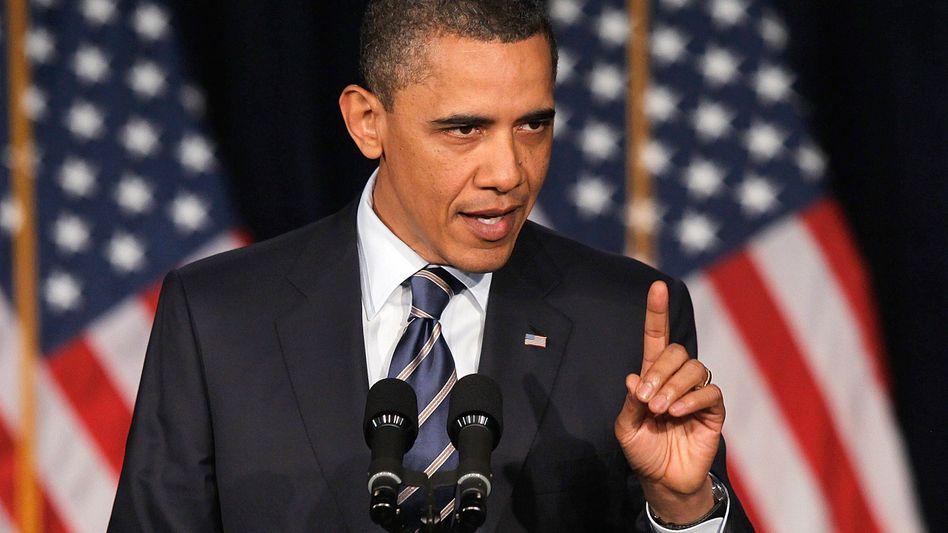 In der Kritik: US-Präsident Obama bei seiner Rede zur Haushaltspolitik an der George Washington Universität in Washington