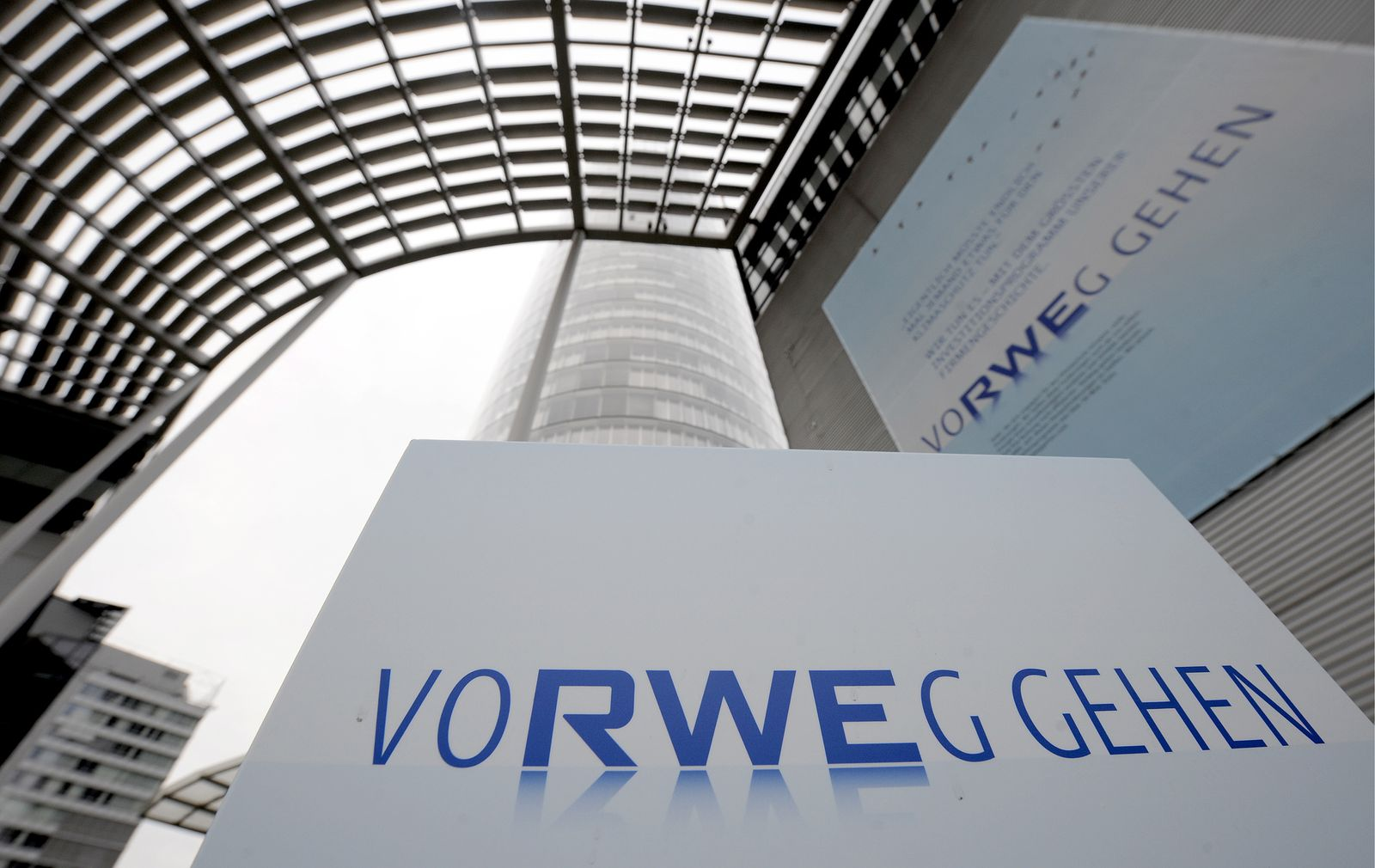 NICHT VERWENDEN RWE Logo / Slogan