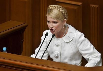Die Galionsfigur der Ukraine: Julija Timoschenko ist eine der führenden Figuren der orangen Revolution, die das Land zur Demokratie machte