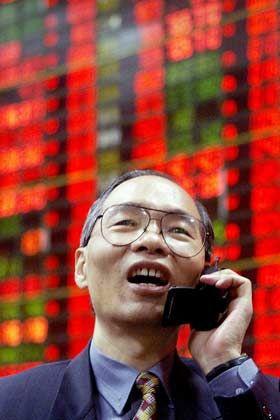 Schwunghafter Handel: Börsenbroker in Taipeh