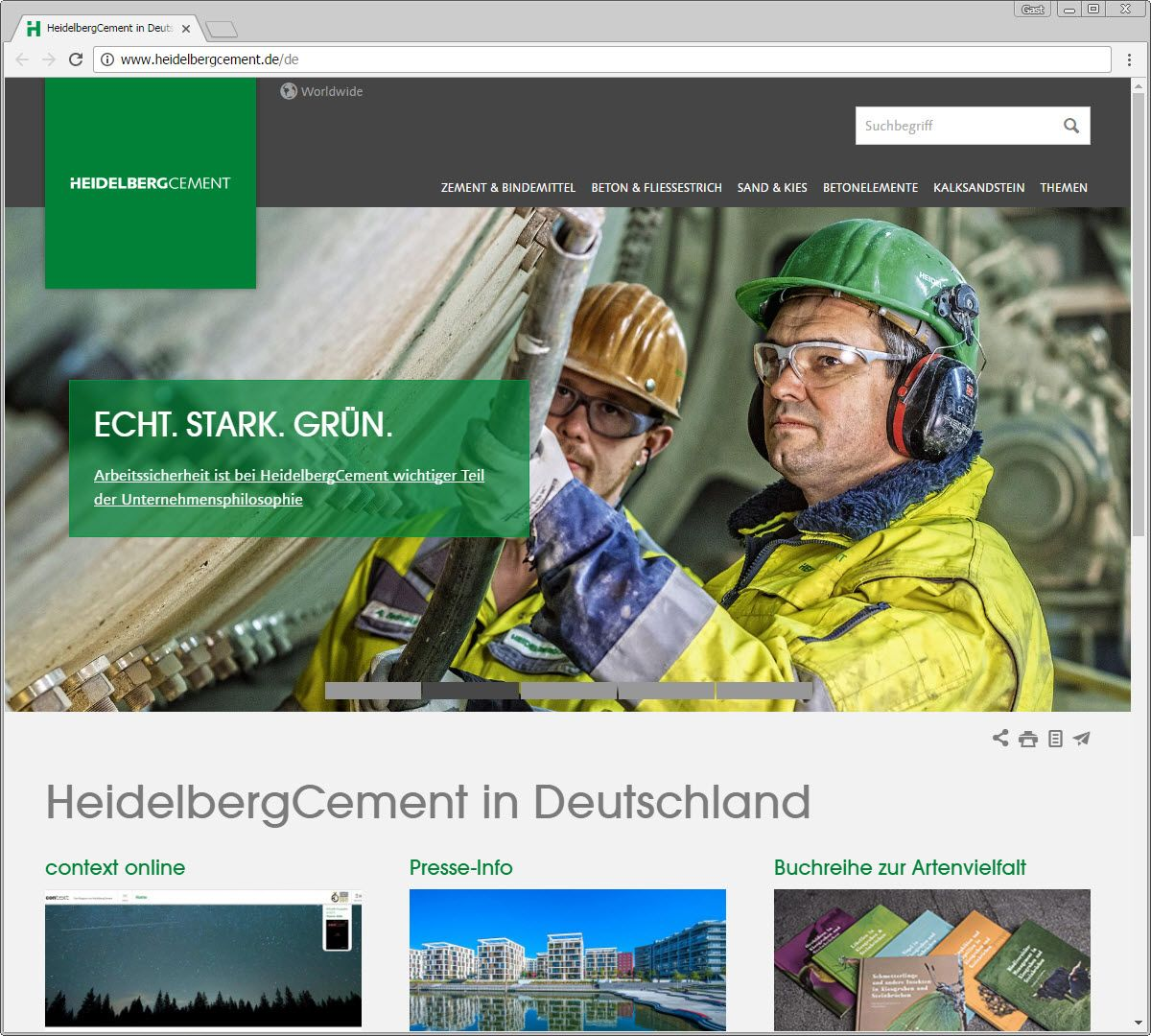 SCREENSHOT heidelbergcement.de