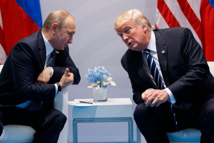 """Trump, Putin (beim G20-Gipfel in Hamburg): """"Reform nur durch Dialog aller Mitglieder"""""""