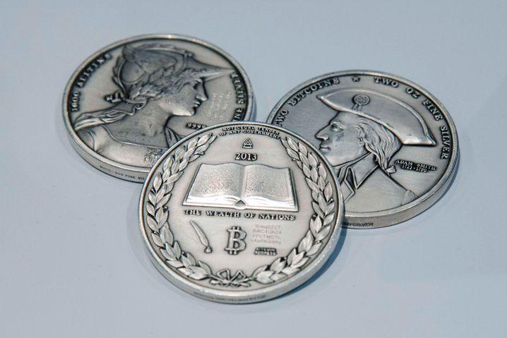 Bitcoin-Schmuckmünze