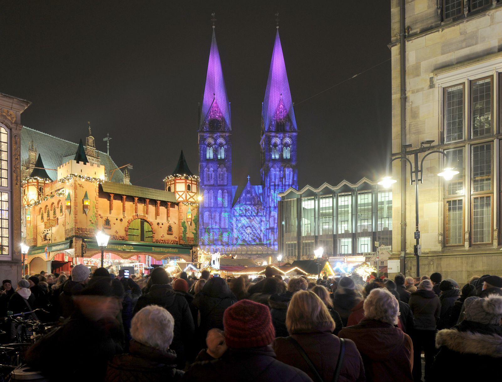 Bremer Weihnachtsmarkt wegen Sturms geschlossen