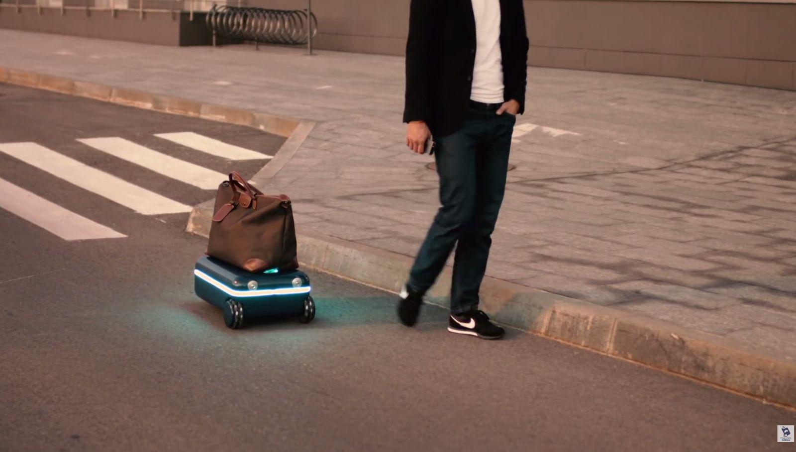 selbstfahrender Koffer / Youtube