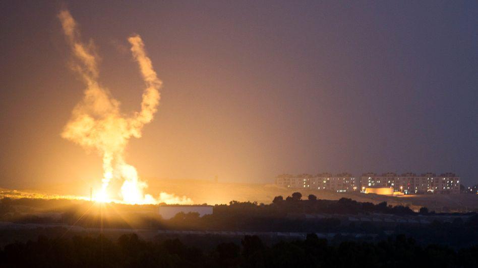 Feuer mit Feuer: Auch Israel feuert Raketen ab.