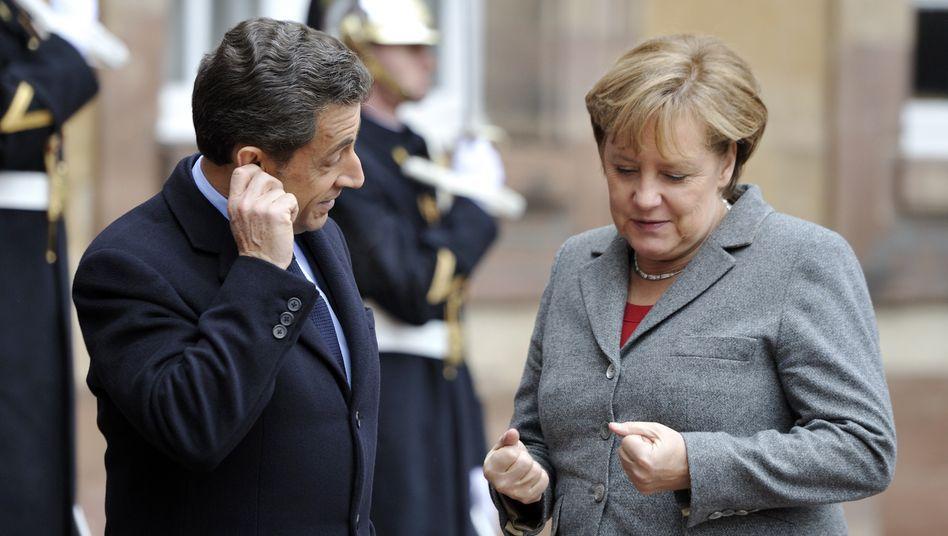 Merkel, Sarkozy beim Vorgespräch in Paris: Die Erwartungen an den EU-Gipfel sind hoch - und damit auch das Potential für Enttäuschugen