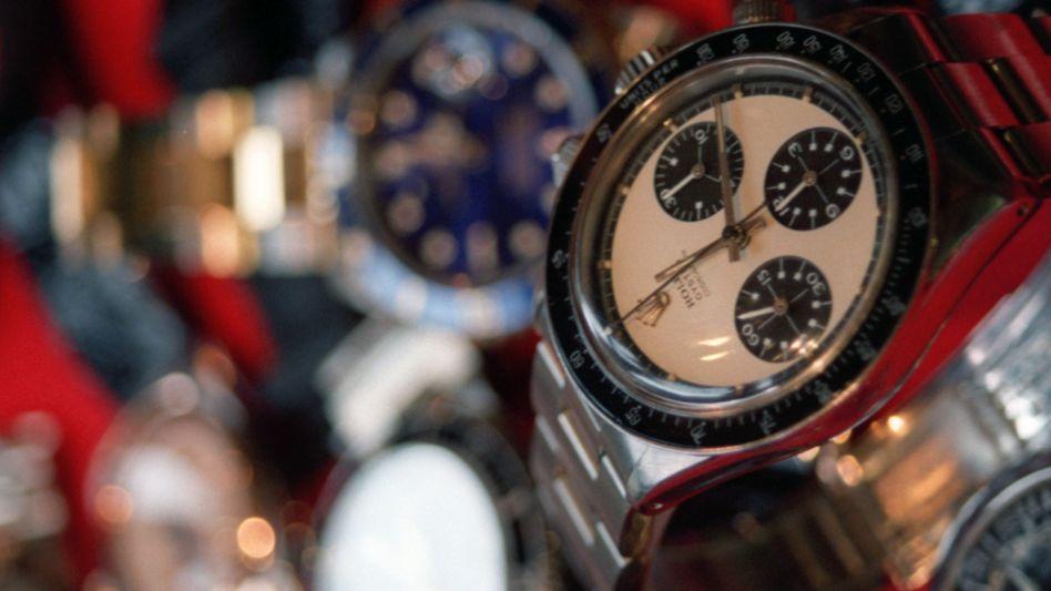 Begehrtes Sammlerstück: Rolex-Uhren gelten als potenziell wertstabil - insbesondere, wenn sie wie diese Uhr des früheren Filmstars Paul Newman einen prominenten Vorbesitzer haben.