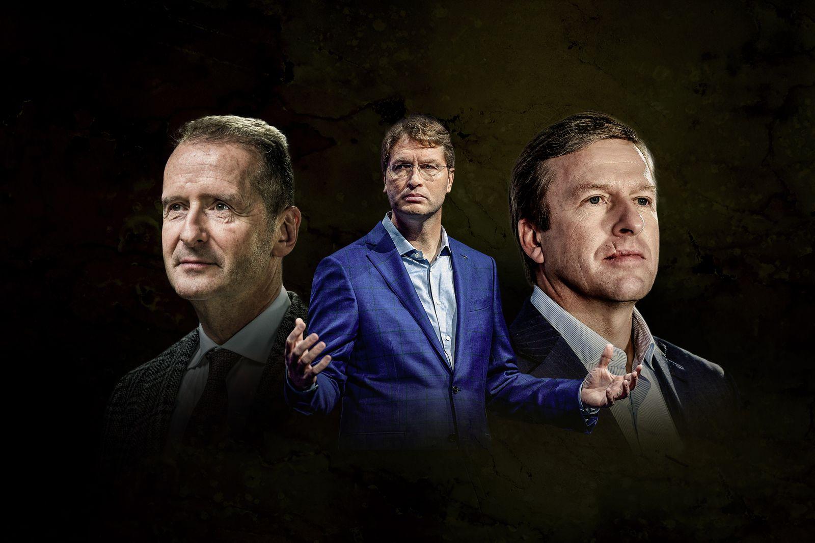 EINMALIGE VERWENDUNG Herbert Diess, Ola Källenius, Oliver Zipse