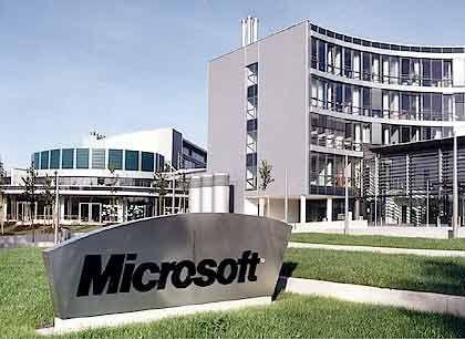 Im Streit mit Brüssel: Microsoft-Zentrale in Deutschland