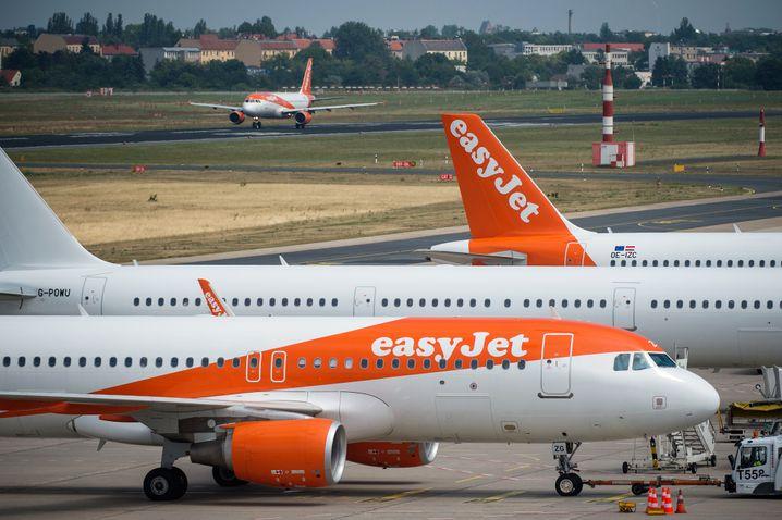 Die Airline Easyjet lässt alle ihre Maschinen am Boden