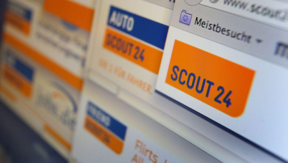 Verschiedene Internetseiten des Online-Marktplatzbetreibers Scout24: 4,7 Milliarden Euro schwere Offerte von Hellman & Friedman und Blackstone abgelehnt