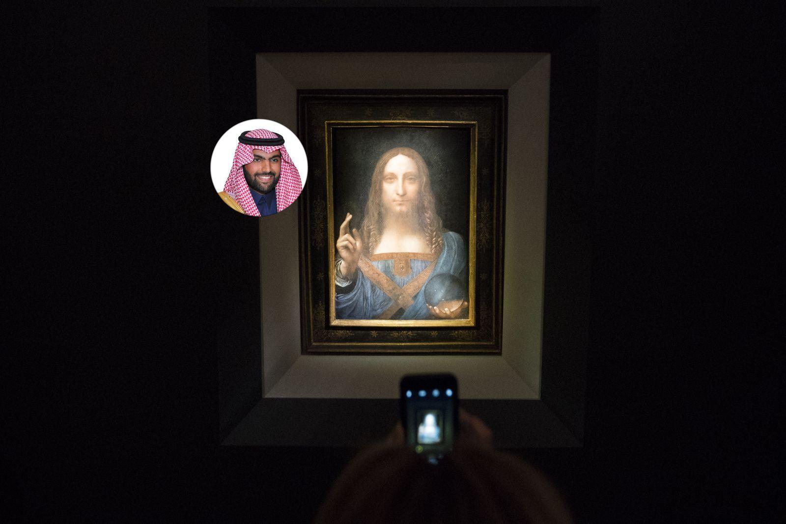 """EINMALIGE VERWENDUNG KOMBO Scheich Prince Bader bin Abdullah / GemÃ?lde """"Salvator Mun"""