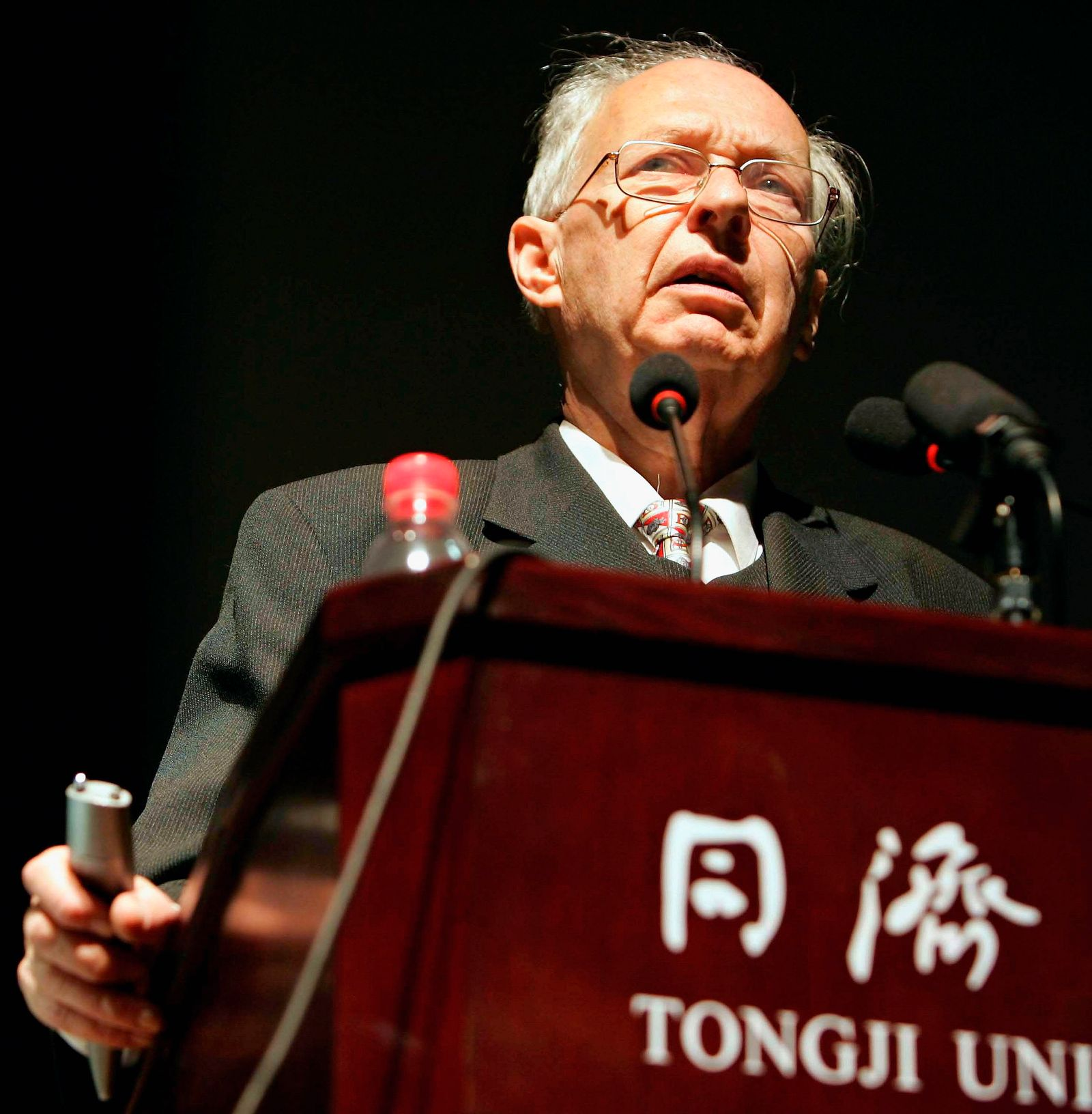 Economist Reinhard Selten Gives A Speech In Tongji University