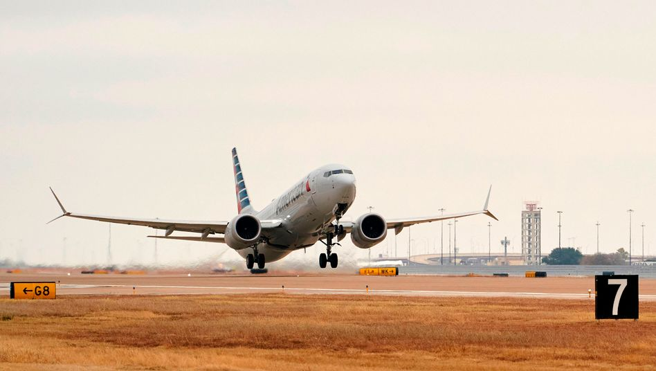 Restart: Zum ersten Mal seit März 2019 ist eine Boeing 737 Max wieder gestartet. Am Mittwoch ging es von Dallas nach Tusla in den USA.
