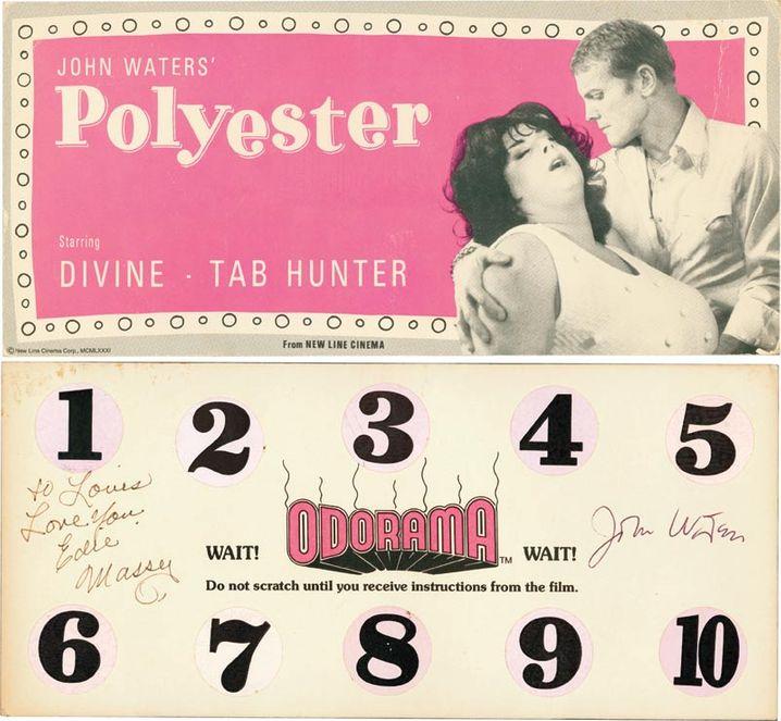"""1981 kam der Experimentalfilm """"Polyester"""" heraus (mit Geruchskarte). Man möchte sich die Aromen lieber nicht vorstellen."""
