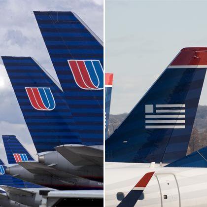 Auf Fusionskurs: Die Luftfahrtgesellschaften US Airways und United Airlines wollen sich zusammentun