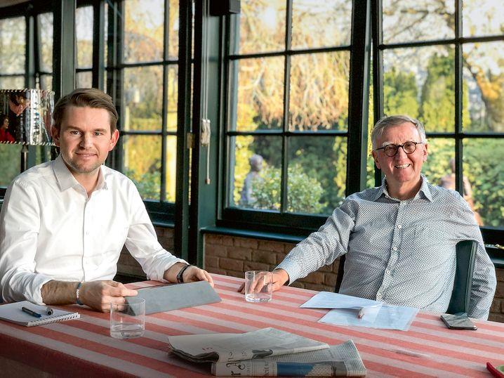 Milliardenschweres Homeoffice: Ernest (links) und Walter Droege
