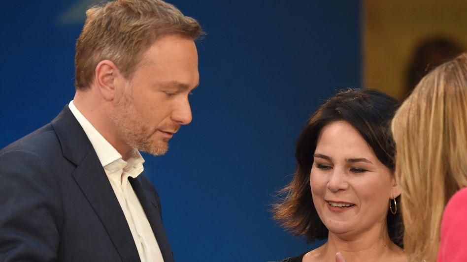 Partner wider Willen: FDP-Chef Christian Lindner und Grünen-Co-Chefin Annalena Baerbock (Bild von 2019)
