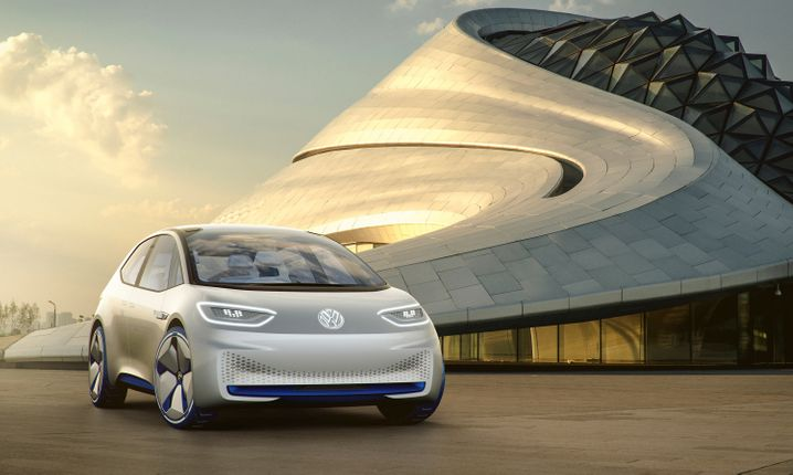 """Volkswagen startet diese Woche eine breit angelegt Marketingkampagne für den Elektrowagen I.D., der Monate vor seiner Auslieferung per """"Pre-Booking""""-Verfahren bestellt werden kann."""