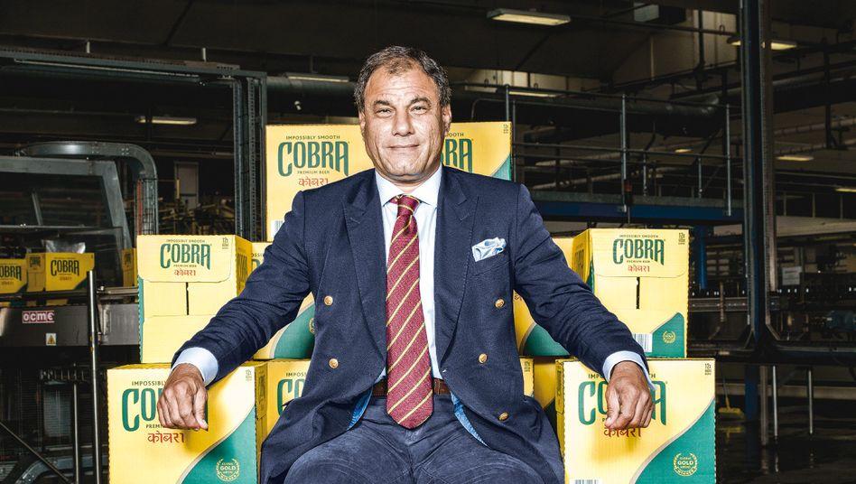 Karan Bilimoria ist Erfinder des süffigen Lagerbiers Cobra.