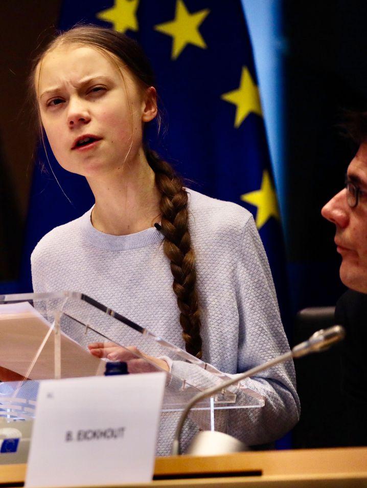 """""""Das ergibt überhaupt keinen Sinn"""": Greta Thunberg."""