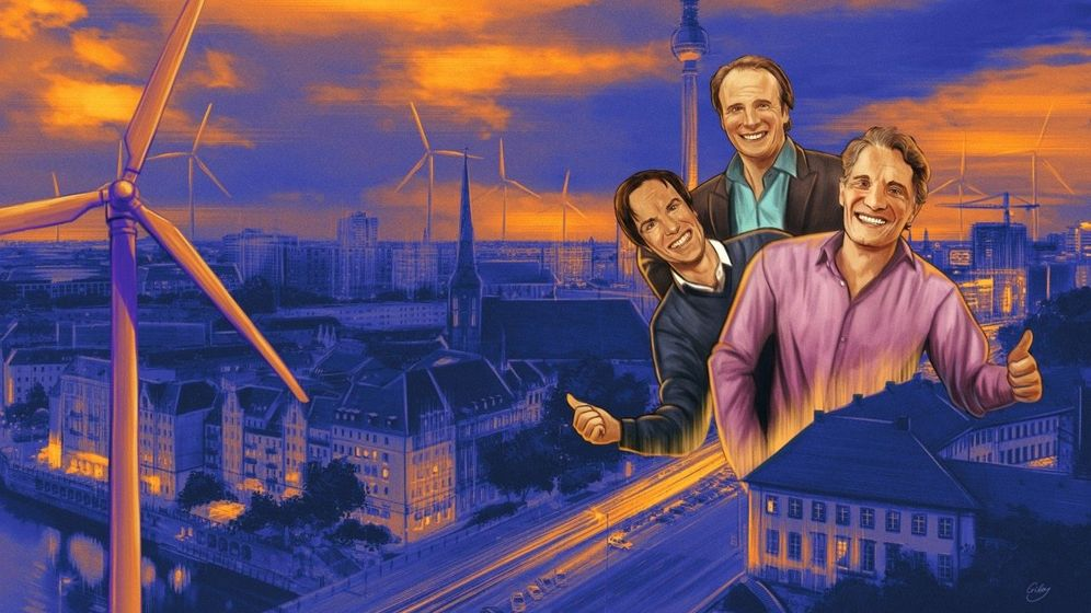Drei gewinnen immer: Die Brüder Alexander, Marc und Oliver Samwer (v. l.) wurden mit dem Klonen von US-Start-ups reich und zocken jetzt die anderen Aktionäre von Rocket Internet ab. Ihr neues Ding: Mietshäuser und Windparks.