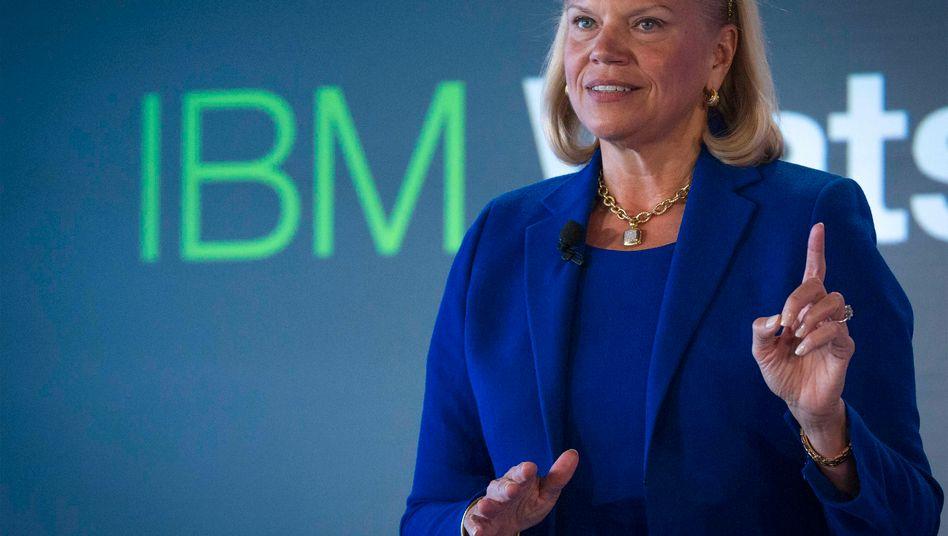 Da geht noch was: IBM-Chefin Virginia Rometty kann mit dem Umsatzrückgang des Jahres 2013 nicht zufrieden sein - und strich sich selbst den Bonus