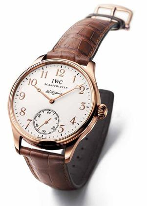 Zeitmesser: IWC-Uhr in 18 Karat Rotgold mit braunem Krokolederarmband