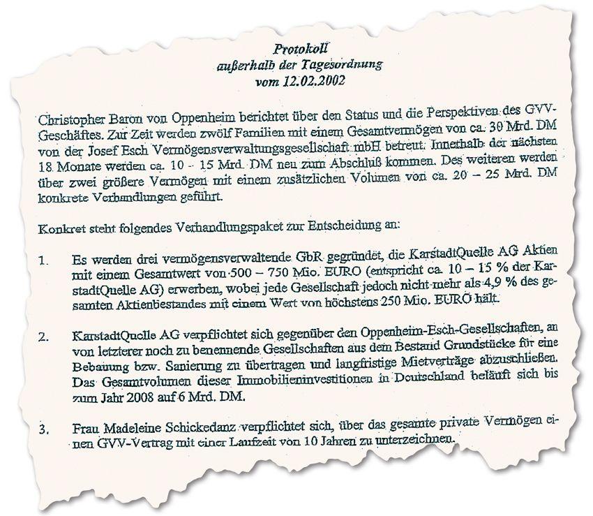 Sitzungsprotokoll Sal. Oppenheim